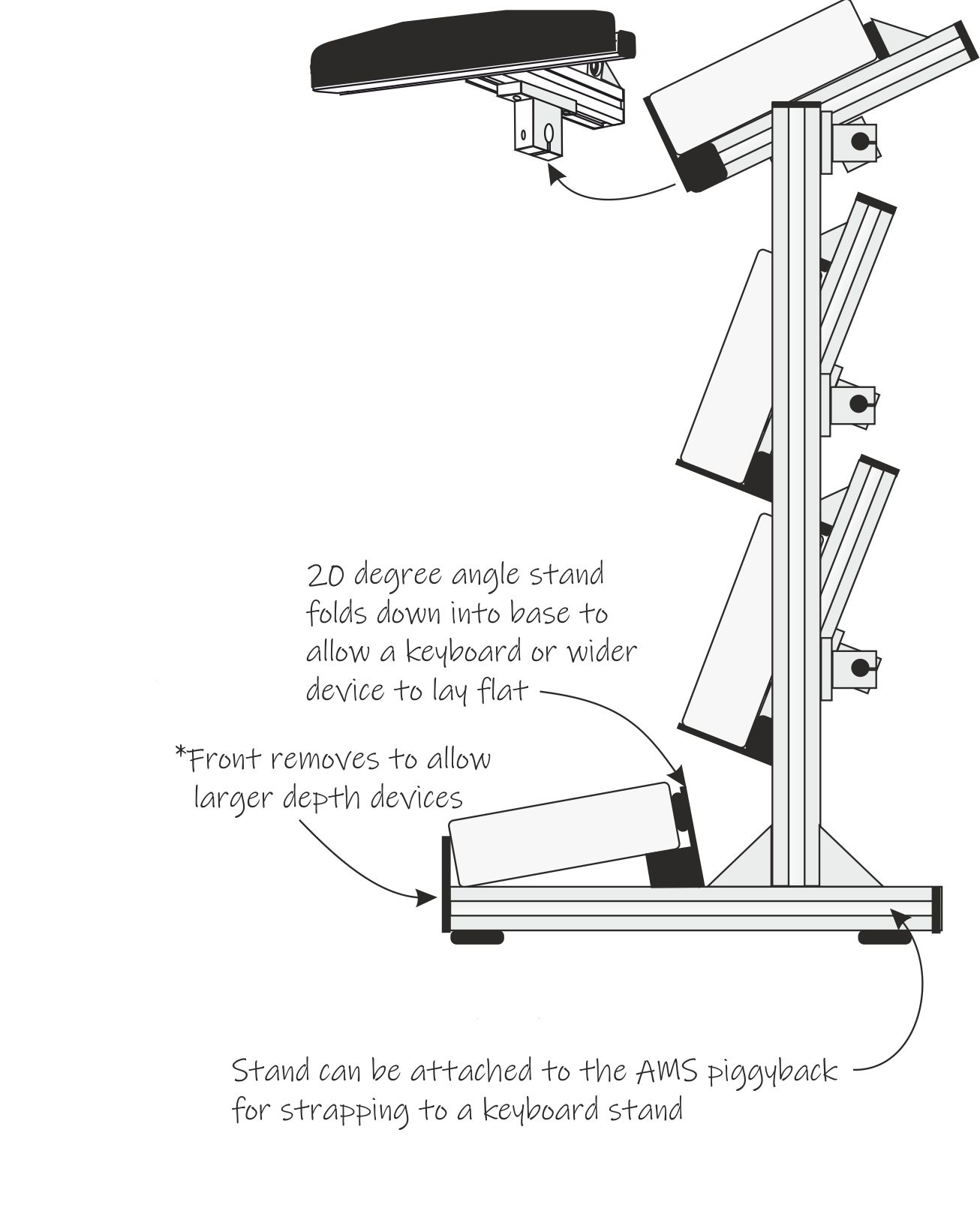 AMS Stands Micro Tower V